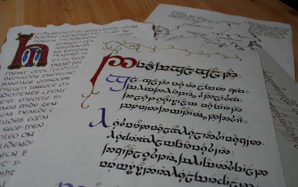 Dans l'atelier du calligraphe dans calligraphie calligraphie03