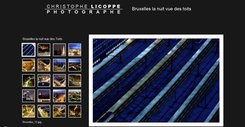 Bruxelles la nuit depuis ses toits - Christophe Licoppe dans Bruxelles licoppe